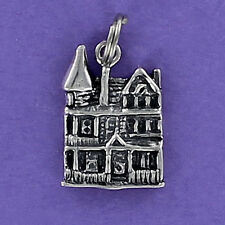 Victorian Michigan House Replica Charm Sterling Silver 925 for Bracelet NEW