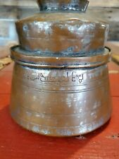 Antique Turkish Mediterrean copper / Brass cooking Pot food Pot With Lid as Bowl