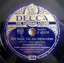 """Teddy Andersen - Der lange Jan aus Amsterdam - Anneliese - /10"""" 78 RPM"""