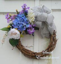 Blue Hydrangea Grapevine Wreath, Spring Wreath, Welcome Wreath, Front Door Decor