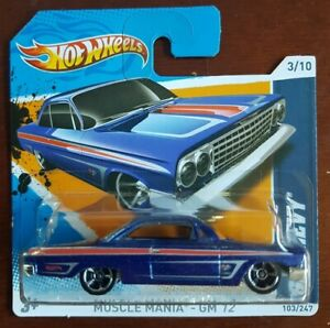 Hot Wheels 62 Chevy Muscle Mania GM12 1: 64 Short Card