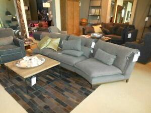 3-teilige schöne Couch vintage grau