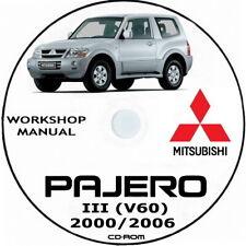 Workshop Manual Mitsubishi PAJERO III (V60) 2000/2006.Manuale officina Pajero 3