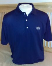 Fairway & Greene Men's Medium Navy Poly Polo w/CC Logo Free Shipping nwot