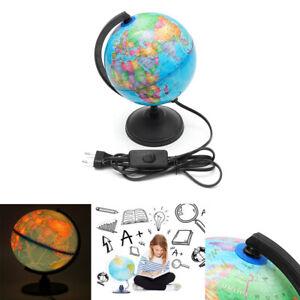 Beleuchtet Weltkugel Mit Rotierende Stand LED Weltkarte Lern Kinderspielzeug