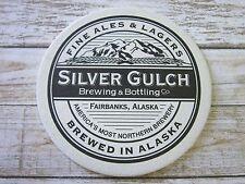 Beer Breweriana Coaster ~ SILVER GULCH Brewing & Bottling Co ~ Fairbanks, ALASKA
