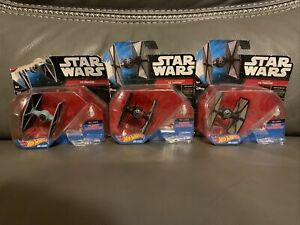 Star Wars Force Awakens Hot Wheels First Order  Special Forces Tie Fighter 3 Lot