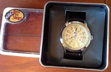 New Quartz Bass Pro Shop Black Leather Band Wristwatches