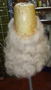 Weihnachtsmann o. Zwerg Bart für Profi vom Maskenbildner (geknüpft, Büffelhaar )