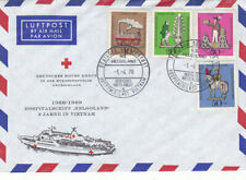 Germany  1969 Humanitarian Funds set on envelope with Hospital ship Helgoland