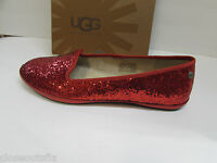 Ugg Australia Size 6.5 M Red Glitter Flats New Womens Shoes