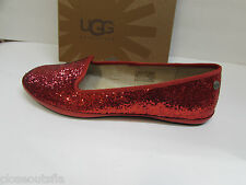 Ugg Australia Size 7 M Red Glitter Flats New Womens Shoes
