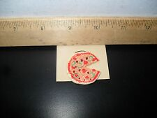 NEW! PIZZA PEPPERONI TOMATO GREEN PEPPERS SLICE BUTTON PIN RETRO HAND PAINTED