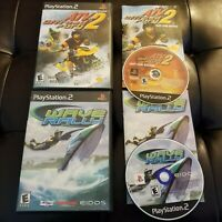 Lot of 2 PS2 Action Sports Games - ATV Offroad Fury 2 & Wave Race Rally CIB