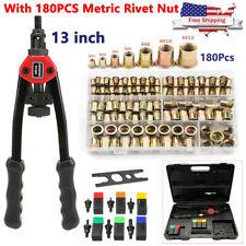 Rivet Gun Kit Rivnut Setting Tool Rivet Nuts Nutsert Setter Blind Riveter M3 M12