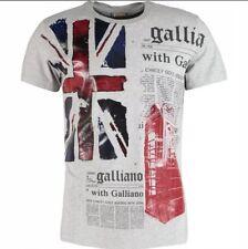 JOHN GALLIANO Designer Union Jack Flag Print T-shirt Size M