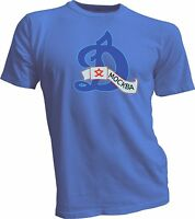 HC Dynamo Moscow KHL Russian Professional Hockey Blue T-Shirt NEW Russia