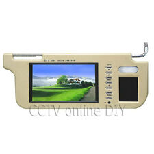 """7"""" Car Sun Visor Monitor 2 Channel Video for DVD Player and Car Rearview Camera"""