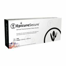 More details for epicure secure sealable thermal sanitised cutlery pouches - large - pack of 200