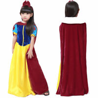 Pincess Dress Girls Snow White Costume Kids Fairy Fancy Party Christmas Dresses