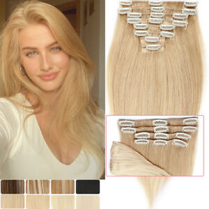 CLEARANCE Highlight Clip In 100% Remy Human Hair Extensions 8PIECES Full Head US