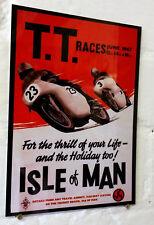 TT Isle of Man Races Retro metal Aluminium Sign vintage