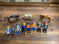 Playmobil Figures Lot of 8 + 3 Horses