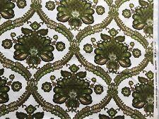 Vintage 'Novara' Green 70's Cotton Fabric- Exclusive To Debenhams- 23x20 Inches