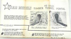 Star Models HO Scale #5101 ~ TIMBER TUNNEL PORTAL~NIB~OUT OF PRODUCTION ~ T216