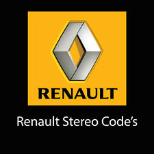 Renault Stereo Codes Decode Car PIN Unlock Fast Service Radio Code UK