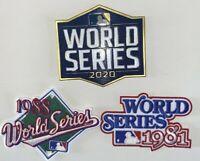 (3pk) Dodgers World Series 1981 1988 2020 Patch MLB Baseball Jersey Patch