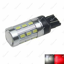 1X T20 7443 24 SMD 5630 LED Dual Color Brake Reverse Light White Red Switchback