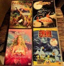 12 DVD CARTOONS HANSEL E GRETEL, BARBIE, I TRE MOSCHETTIERI, UN MONDO DI FAVOLE