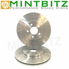 VW Touareg 2.5 Tdi 03- Front Brake Discs Dimpled Grooved