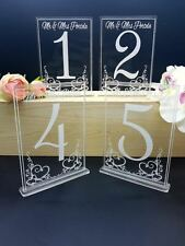 Wedding Personalised Acrylic Table Numbers