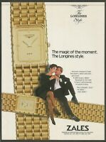 LONGINES QWR watch - 1989 Vintage Print Ad(not real product)