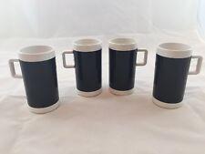 Set Of 4 Branniff Airlines Coffee Mugs Vintage
