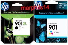 Originales Hp 901XL y HP 901-Negro Y Tricolor los cartuchos de tinta CC654A/CC656A