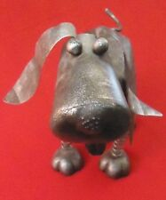 Metal Sculpture Bobble Head Dog 11""
