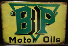 BP MOTOR OIL.  Rustic Look Vintage Retro Tin Signs Man Cave, Shed & Bar Sign