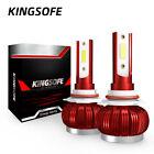 4-Sides 9005 LED Headlight Bulbs Lights Conversion Kit HB3 High Low Beam 6000K