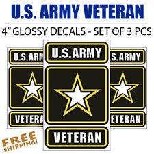 3 PCS - U.S. Army Veteran MEDIUM Vinyl Decal Glossy Stickers Army of One