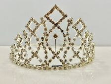 Crystal 358 Tiara Crown - Silver Tone