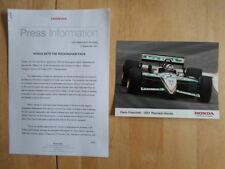 HONDA CIVIC TYPE R at ROCKINGHAM 2001 UK Mkt Press Release + D Franchitti Photo