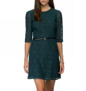[OASIS] Lace Flippy Dress SIZE 12 Comes With Belt (RRP $89.95) NEW WITH TAG
