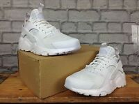 NIKE MENS UK 8 EU 42.5 AIR HUARACHE ULTRA TRIPLE WHITE TRAINERS RRP £110