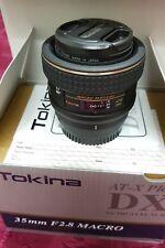 Tokina AT-X PRO 35mm f/2.0 MF AF ATX Macro 35 mm Fixed Lens NikonDX SLR *MINT*
