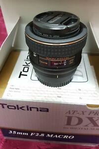 Tokina AT-X PRO 35mm f2.8 MF AF ATX Macro 35 mm Fixed Lens NikonDX SLR *MINT*