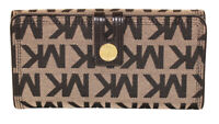 NWT $158 Michael Kors Harness Carry All Wallet Leather Black Clutch Card ID NEW