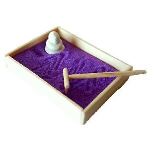 Zen garden miniature Japanese meditation sand tray kit Dollhouse relaxation doll